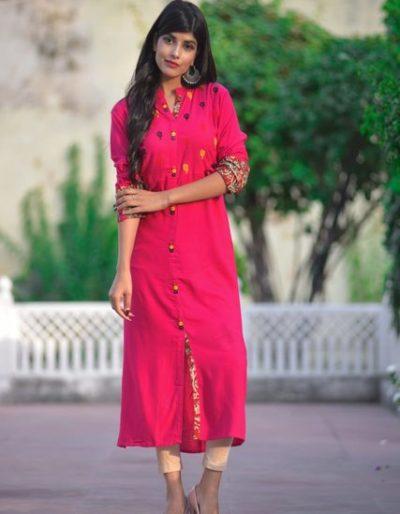 Rayon Kurta in three vibrant colours