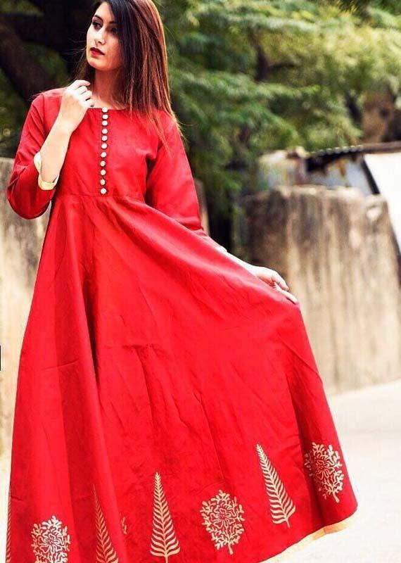 Taffeta silk full length gown [1090]