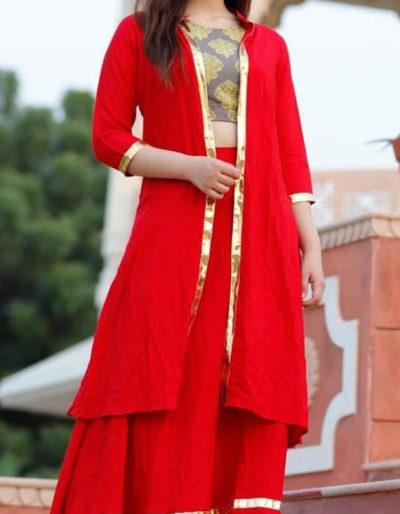 Three-piece parry wear red dress [1089]