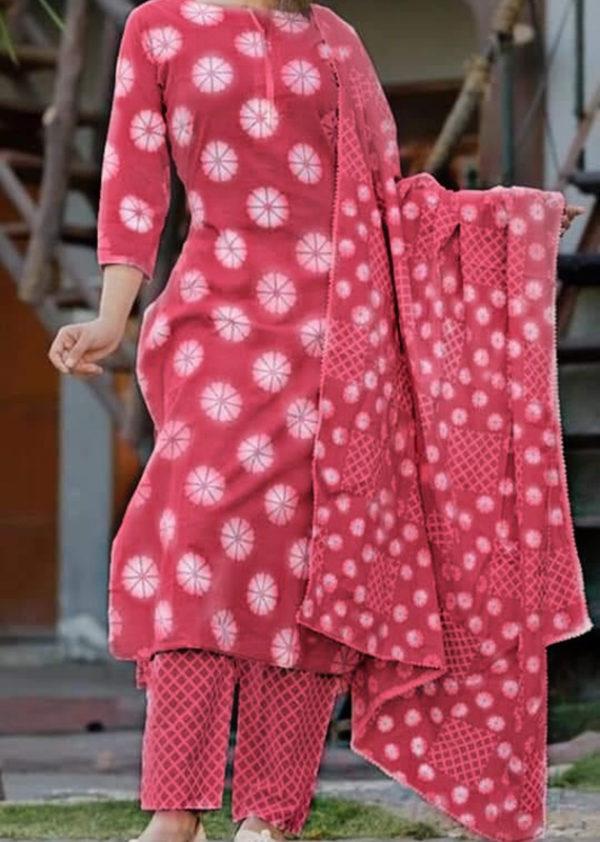 2-piece kurti, pant in cotton fabric [AM-1299]