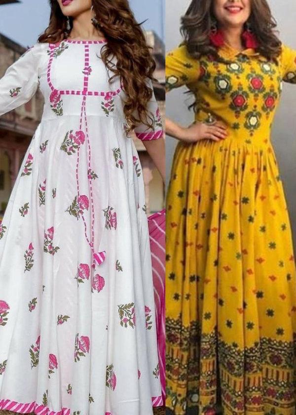 combo deal kurti fashion mustard 3-piece
