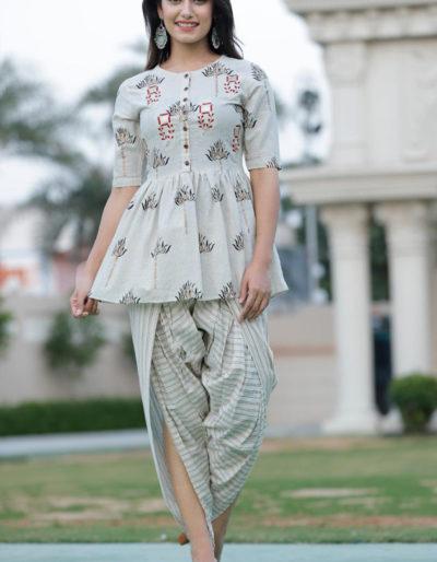 cotton flex kurti dhoti