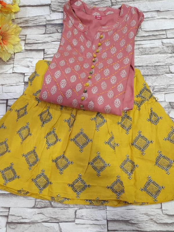 Kaatha work printed kurti