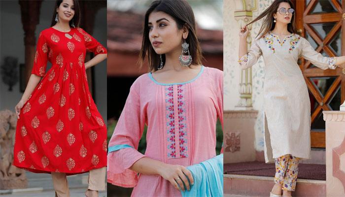 8 Most Popular Common Kurti Neck Designs In 2020 Kurti Fashion