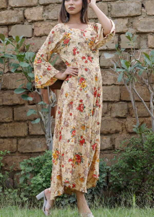 Long kurti with beautiful prints
