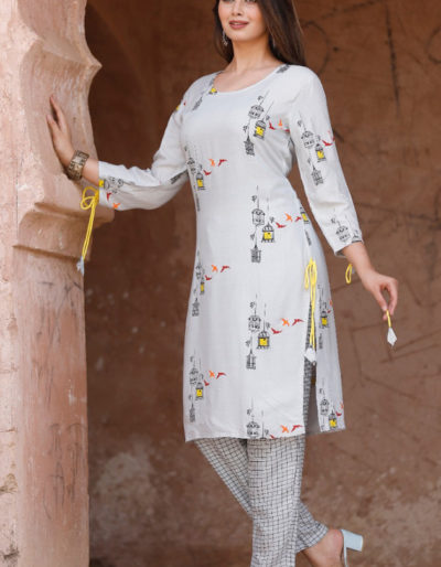 Printed kurti and pant set