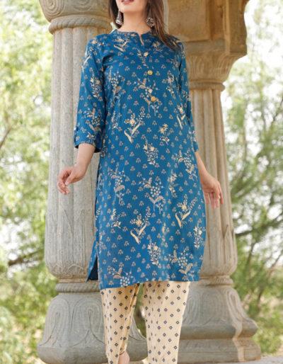 Blue kurti and pant
