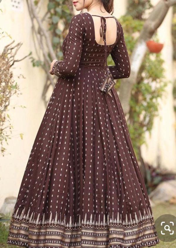 Dark brown long gown
