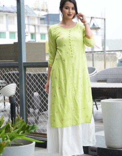 Light green kurti
