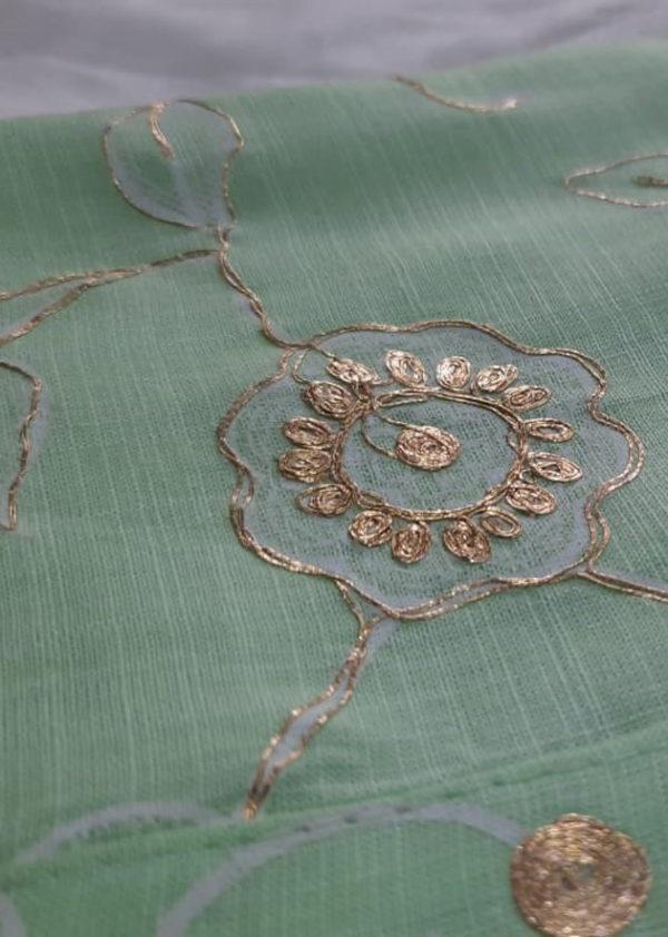 Light green kurti with beautiful adda work 2