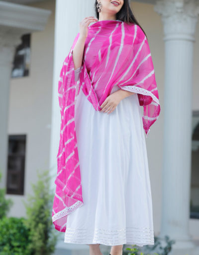 White colour long kurti