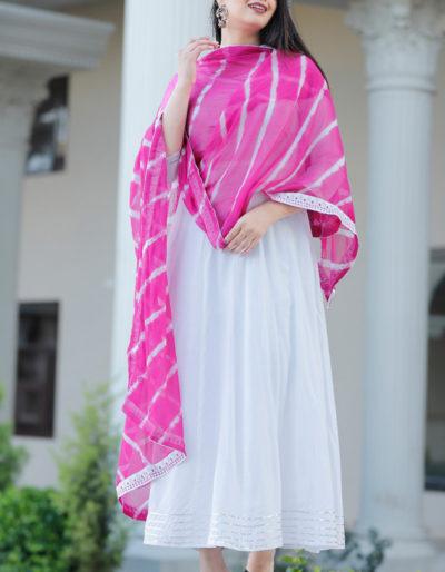 White colour long kurti